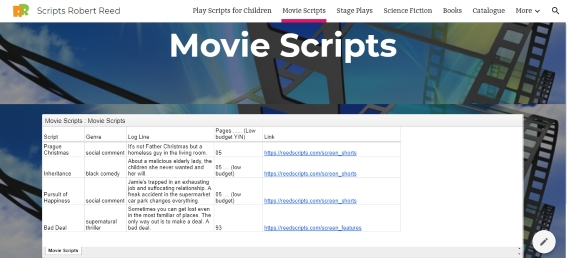 Movie scripts